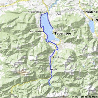Ausfahrt von Kreuth nach Tegernsee