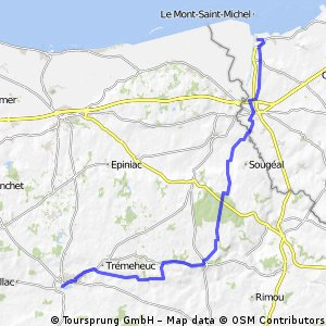 combourg to LaJacotiere