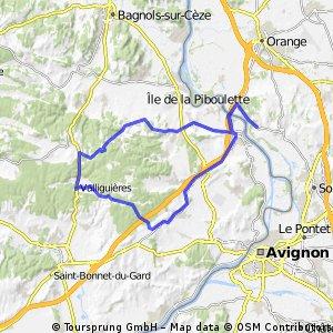Chateauneuf-Valliguières Retour