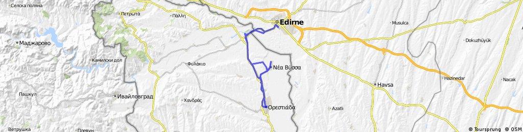 Edirne - Kastanies - Orestiada - Edirne