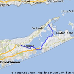 Lengthy ride from Riverhead to Southold
