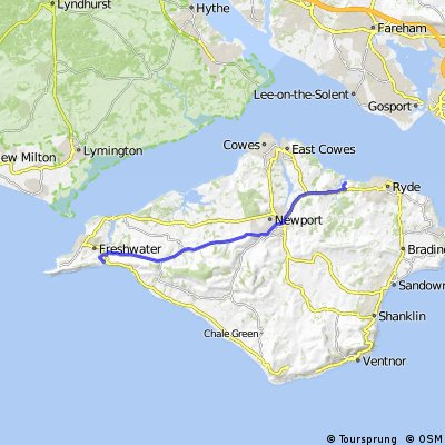 ride from Fishbourne to The needles 2016.05.28.