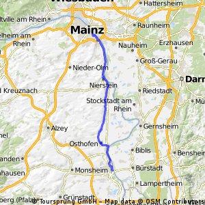 Worms Mainz (B9 entlang)