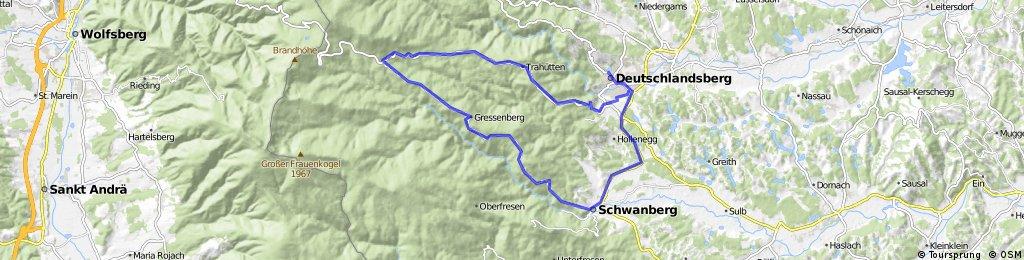 Deutschlandsberg - Gressenberg - Glashütten - Deutschlandsberg