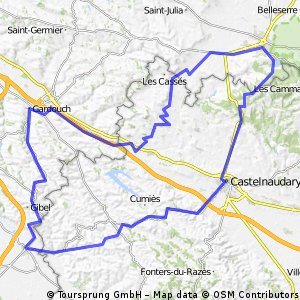 Mazères - Castelnaudary - Saint Ferréol - Gardouch - Mazères