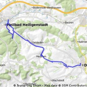 Dingelstädt nach Heiligenstadt