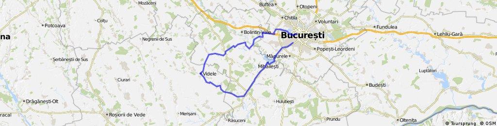 Bucuresti - Bragadiru - Mihailesti - Copaciu - Videle - Podisor - Ciorogarla - Chiajna - Bucuresti