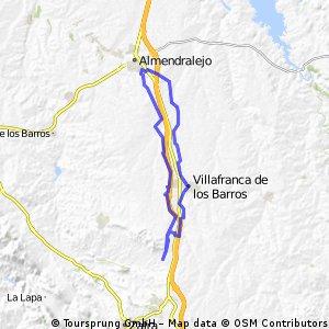 ALMENDRALEJO-LOS SANTOS-RIBERA-ALMENDRALEJO. PARTE I