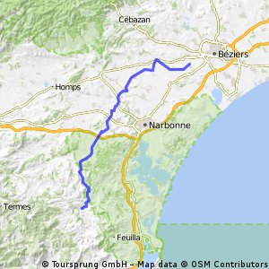 Columbiers-Corbieres (63km)