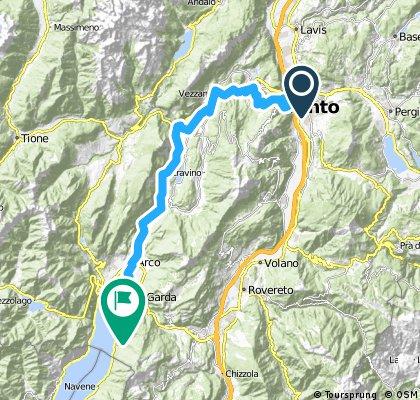 Day 5 Trento to Torbole alternative via Val di Sarca