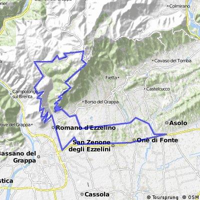 Monte Grappa Itali bike 2016
