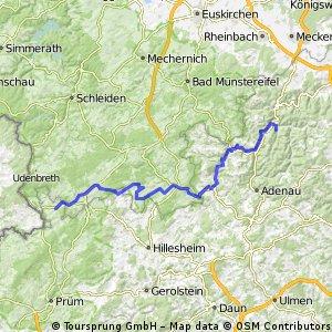 Ahrbruck - Ahr Radweg - Kronenburger See 68 KM