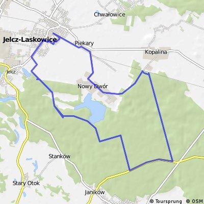 Jelcz-Laskowice - Stawy Hodowlane- Big Bunkier- Kopalina- Nowy Dwór