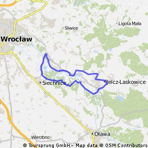 Jelcz-Laskowice - Ratowice - Kotowice - Siechnice - Kamieciec - Czernica - Miłoszyce