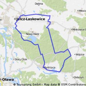 Jelcz-Laskowice - Nowy Dwór- Bystrzyca-Wójcice-Kopalina-Chwałowice