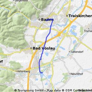 bike tour from Schönau an der Triesting to Baden