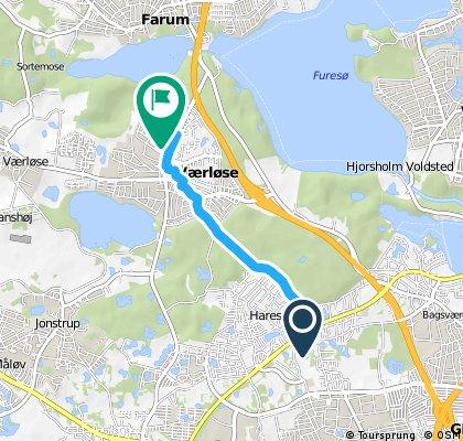 Short ride from Hareskovby to Farum