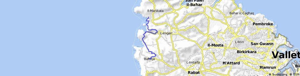 Golden Bay to Bahrija Bus Anfang+Ende 10km