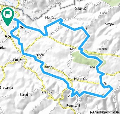Route Kroatie 39 KM