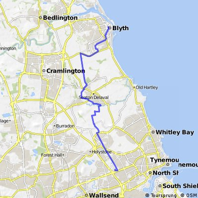Bike Tourb from Silverlink  to Blyth