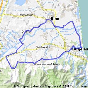 Lengthy bike tour through Laroque d'Alberes