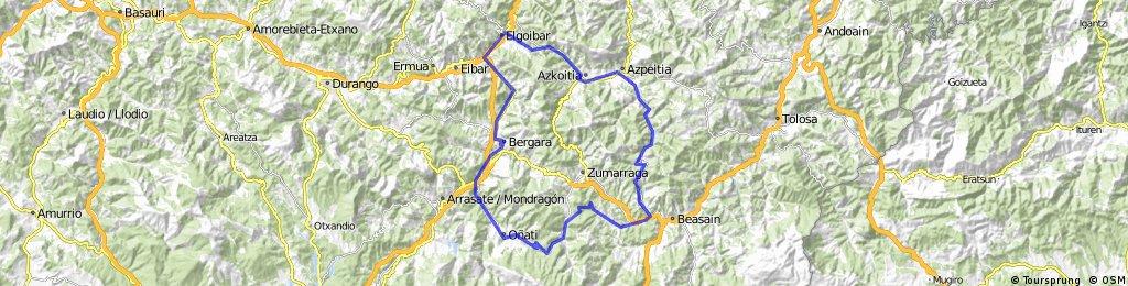 2016 06 05 - Bergara - Elgoibar - Azkoitia - Mandubia - Ormaiztegi - Atagoiti - Oñati -Bergara