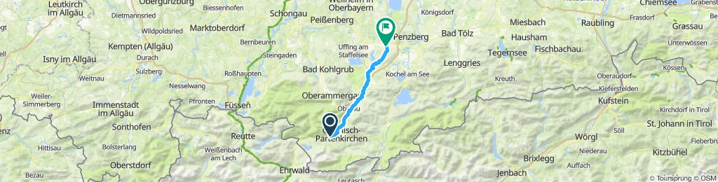 B07GAP-Garmisch nach Habach an der Loisach entlang