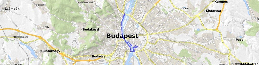 ride through Budapest IX. kerület