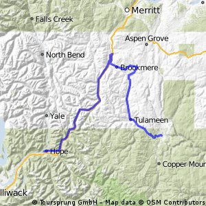 Across Canada Trails - Proposed Bike Route - Hope to Princeton ,BC