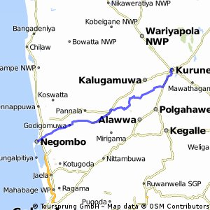 Negombo - Kurunegala