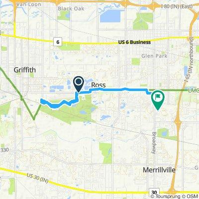 bike tour from Ross to Merrillville