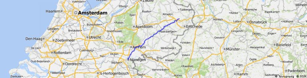 Nijmegen naar Hengelo