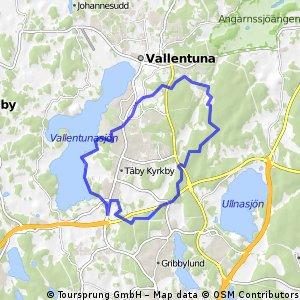 bike tour from Täby to Vallentuna