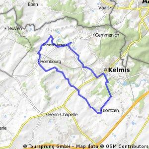 Lontzen Start toll durch den Wald Bis Bleiberg Danach Straße Alternativ über Gemenich Zum 3 Länderpunkt