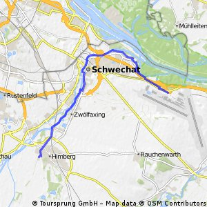 bike tour from Himberg to Schwechat