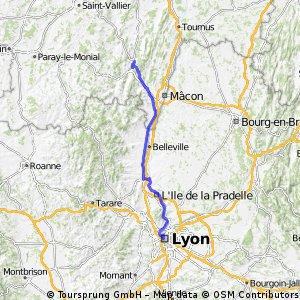 Z Cluny do Lyonu