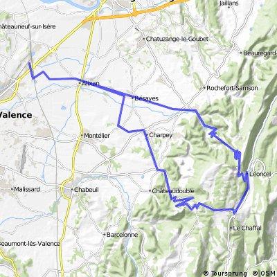 2016 Ride Day 90 - Valence Circle to Col de Tourniol