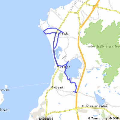 Cycling routes and bike maps in and around Si Racha Bikemap Your