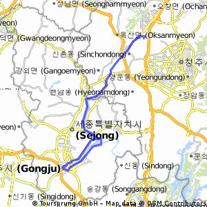 Cycling routes and bike maps in and around Cheongjusi Bikemap