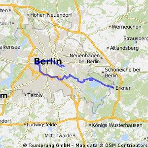 Lange Radrunde von Erkner nach Berlin