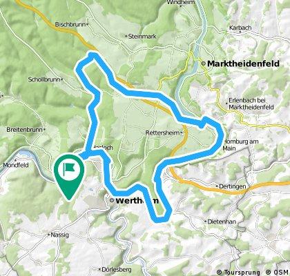 Lange Radrunde durch Wertheim