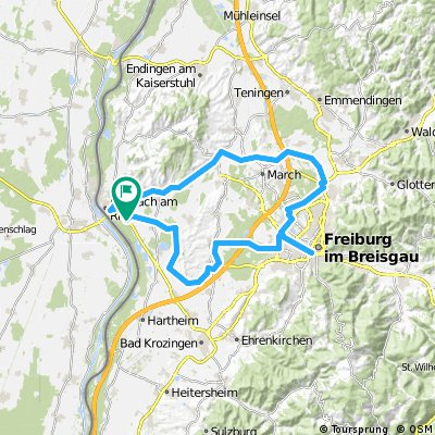 Breisach Germany Map.Cycling Routes And Bike Maps In And Around Breisach Bikemap Your