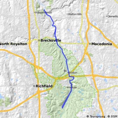 Lengthy ride through Brecksville