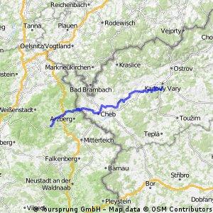 EV4 - Etape 1 Karlovy Vary - Bad Alexanderstadt