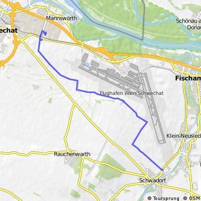 Ausfahrt von Schwadorf nach Schwechat