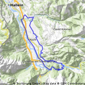 Scheffau-Maria Bruneck(Pass Lueg) - Golling-Vigaun