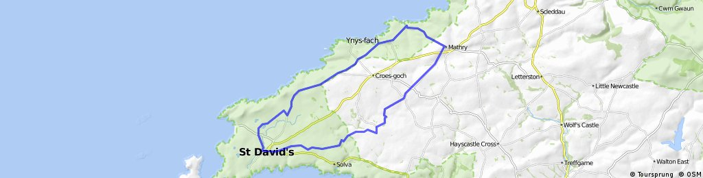 St Davids Abercastle circle route