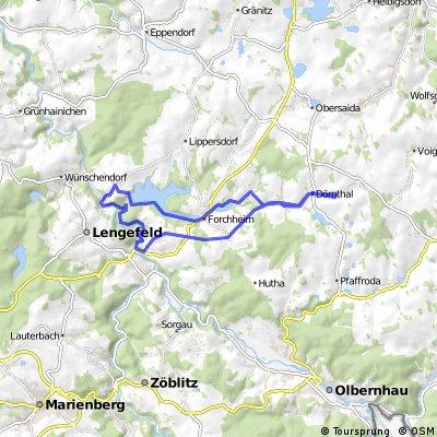 Dörnthal-Forchheim-Görsdorf-Pockau-Flöhatalweg-Saidenbach Talsperre-Forcheimer Vorbecken-Dörnthal