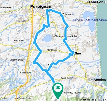 Long ride through Laroque d'Alberes