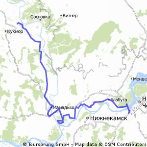 Cycling Routes And Bike Maps In And Around Naberezhnye Chelny - Naberezhnye chelny map